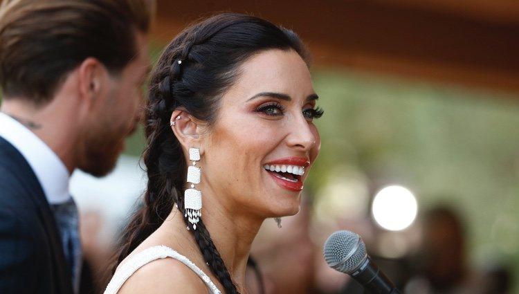 Pilar Rubio dando sus primeras declaraciones tras su boda con Sergio Ramos