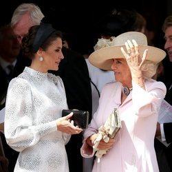 La Reina Letizia y Camilla Parker en la procesión de la Orden de la Jarretera 2019
