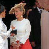 La Reina Letizia y Sophie Rhys-Jones en la procesión de la Orden de la Jarretera 2019