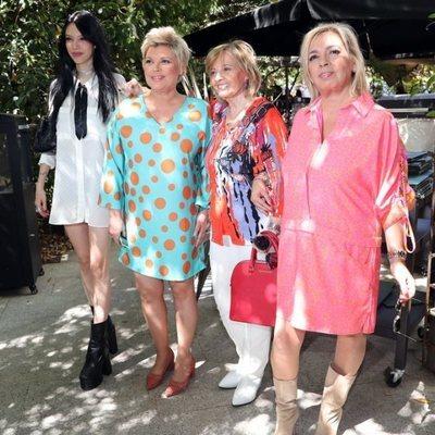 Alejandra Rubio, Terelu Campos, María Teresa Campos y Carmen Borrego celebrando el cumpleaños de la matriarca