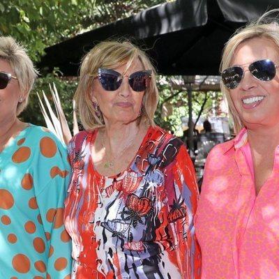 Terelu Campos, María Teresa Campos y Carmen Borrego en el cumpleaños de la matriarca