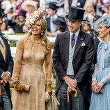 Máxima y Guillermo de Holanda junto a los Duques de Cambridge en Ascot 2019