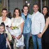 Pauline Ducruet con Estefanía de Mónaco y su familia paterna en la Paris Fashion Week 2019