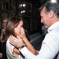 Pauline Ducruet emocionada con su padre en la Paris Fashion Week 2019