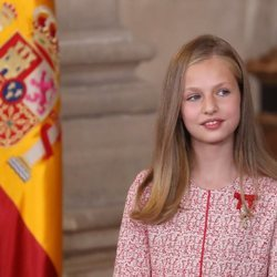 La Princesa Leonor en el quinto aniversario de reinado de Felipe VI