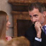 El Rey Felipe y la Princesa Leonor en el quinto aniversario de reinado de Felipe VI