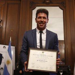Diego Simeone, reconocido como Personalidad destacada de la Ciudad de Buenos Aires