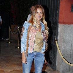 Marta López, colaboradora de 'Gran Hermano: El Debate' en la fiesta de la productora Zeppelin de 2019