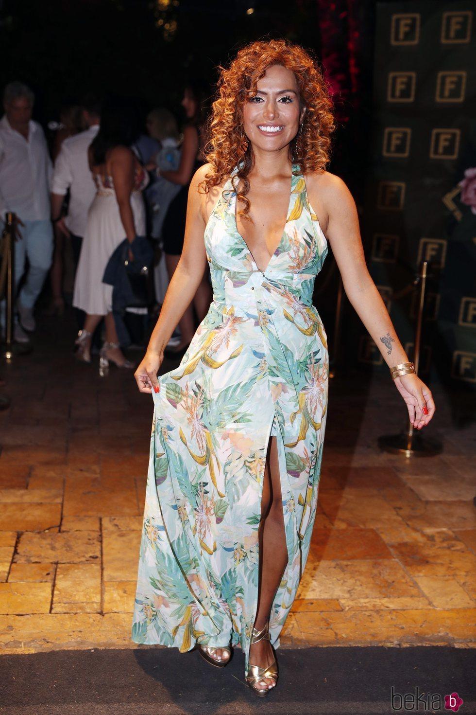 Miriam Saavedra en la fiesta de la productora Zeppelin de 2019