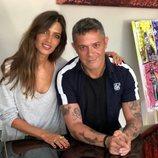 Sara Carbonero con Alejandro Sanz durante una entrevista