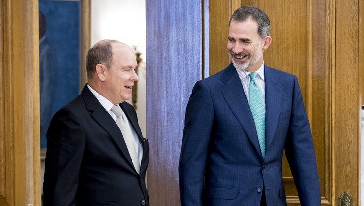 Felipe VI y Alberto de Mónaco en La Zarzuela