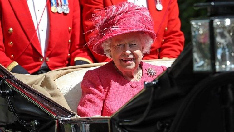 La Reina Isabel de Inglaterra en la Royal Ascot 2019
