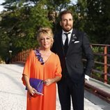 Raúl Prieto y Lydia Lozano en la boda de Belén Esteban y Miguel Marcos
