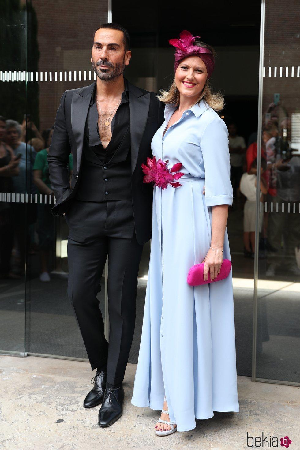 Manuel Zamorano y Cristina Soria en la boda de Belén Esteban y Miguel Marcos