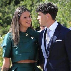 Laura Matamoros y Daniel Illescas, cómplices en la boda de María Pombo y Pablo Castellano