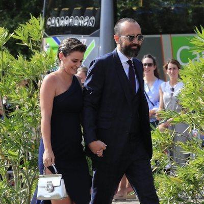 Laura Escanes y Risto Mejide en la boda de María Pombo y Pablo Castellano
