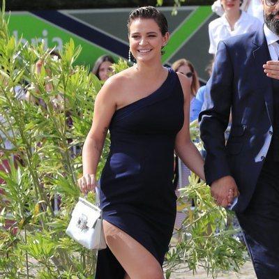 Laura Escanes en la boda de María Pombo y Pablo Castellano