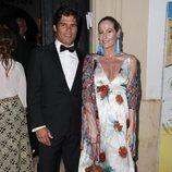 Fiona Ferrer y Javier Falconde en la preboda de Ainhoa Arteta y Matías Urrea