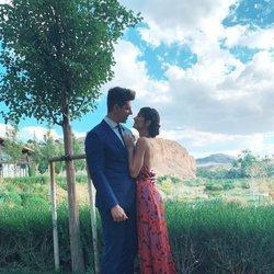 Diego Matamoros y Estela Grande en la boda de Belén Esteban y Miguel Marcos