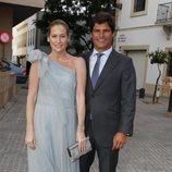 Fiona Ferrer y Javier Falconde en la boda de Ainhoa Arteta y Matías Urrea