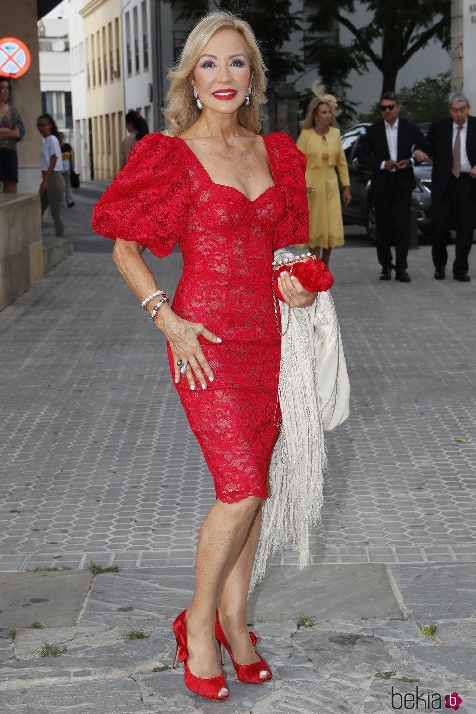 Carmen Lomana en la boda de Ainhoa Arteta y Matías Urrea