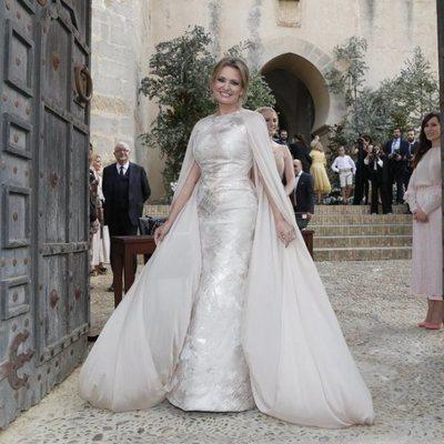Ainhoa Arteta llega radiante a su boda con Matías Urrea
