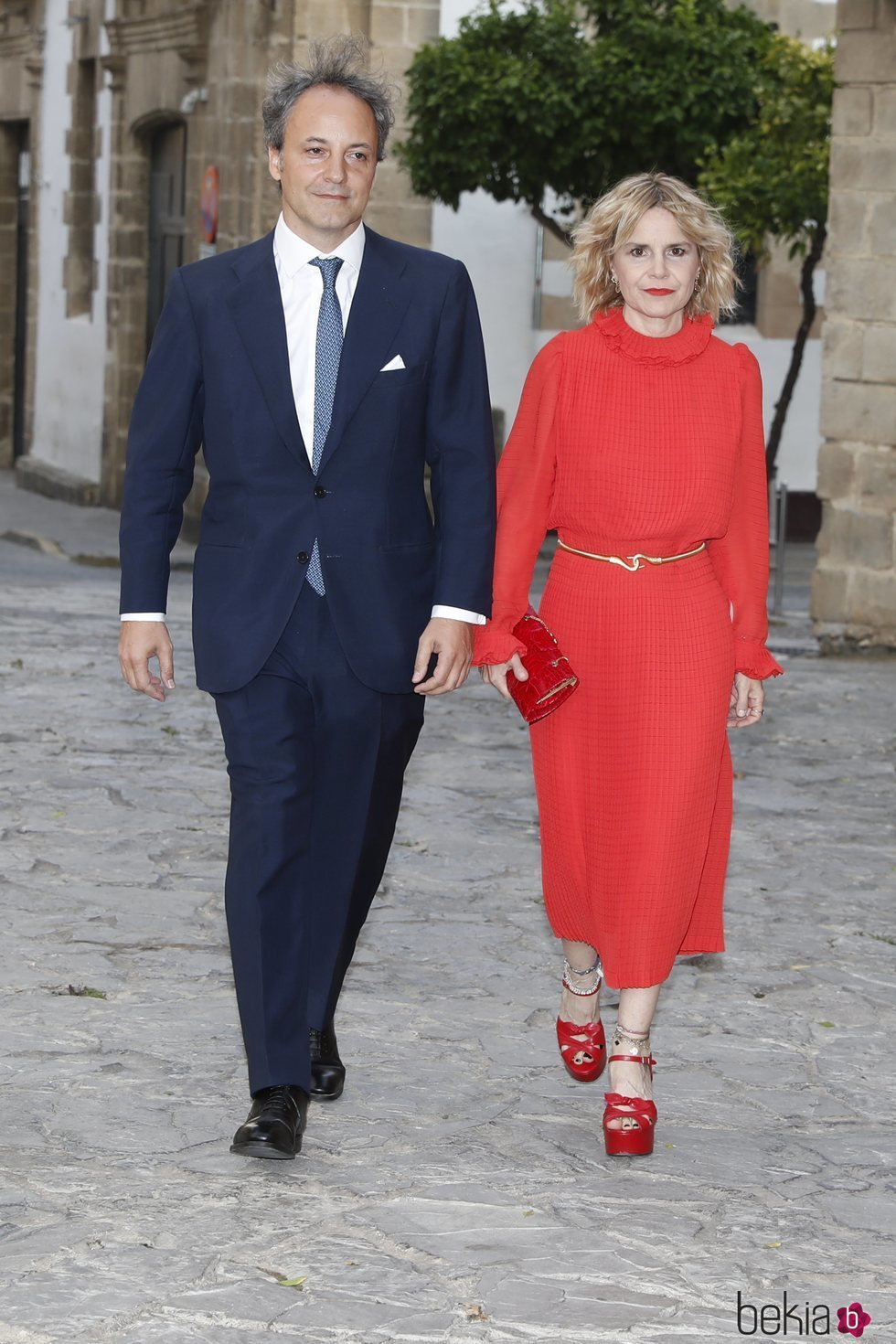 Eugenia Martínez de Irujo y Narcís Rebollo en la boda de Ainhoa Arteta y Matías Urrea