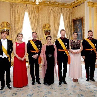 El Gran Ducado de Luxemburgo en la recepción en el Palacio Ducal