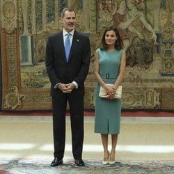 Los Reyes Felipe y Letizia en el Palacio de El Pardo