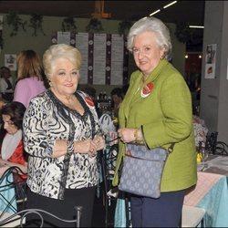 Cuqui Fierro y la Infanta Pilar en el Rastrillo Nuevo Futuro 2009