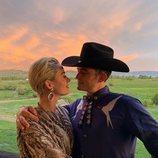 Katy Perry y Orlando Bloom en la fiesta de boda de Karlie Kloss