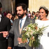 Rocío Osorno y Coco Robatto salen de la Iglesia convertidos en marido y mujer