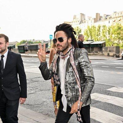 Lenny Kravitz en la boda de Zoë Kravitz y Karl Glusman
