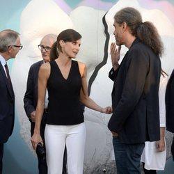 La Reina Letizia y Fernando León de Aranoa en la inauguración del Atlàntida Film Fest