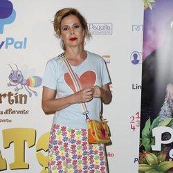 Ágatha Ruiz de la Prada posa en el estreno de 'Pato el feo'