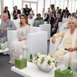 La Princesa Haya de Jordania junto al Príncipe Carlos de Inglaterra