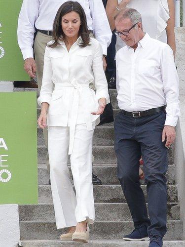 La Reina Letizia junto al Ministro de Cultura y Deporte