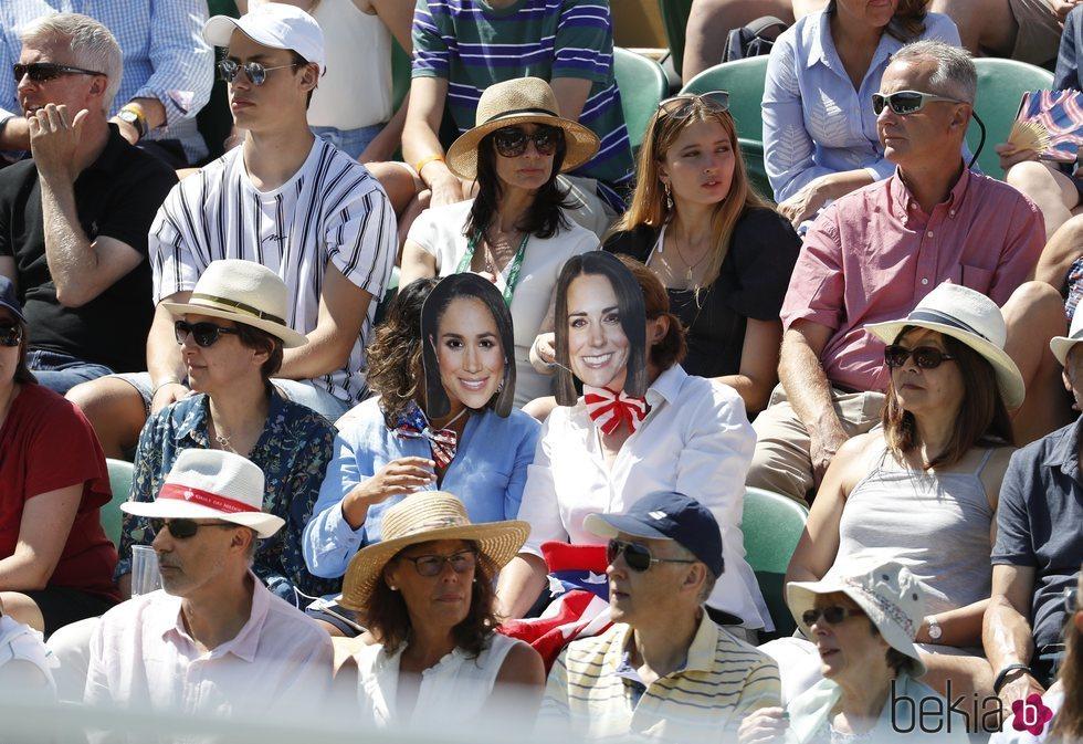 Caretas de Meghan Markle y Kate Middleton en el torneo de Wimbledon