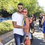 Tamara Gorro y Ezequiel Garay en el desfile del Orgullo 2019