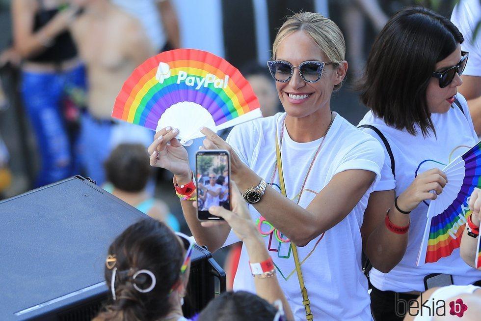 Luján Argüelles en el desfile del Orgullo 2019