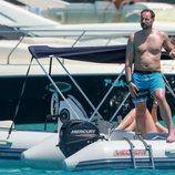 El Príncipe Haakon de Noruega con el torso desnudo en Formentera