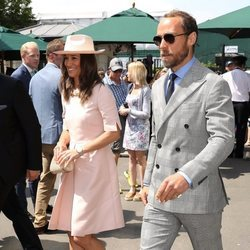 James Middleton y Pippa Middleton asisten al torneo de Wimbledon 2019