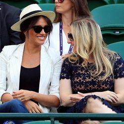 Meghan Markle en el partido de tenis de Wimbledon 2019