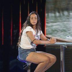 Dakota Tárraga a su entrada en el plató de 'Supervivientes 2019'