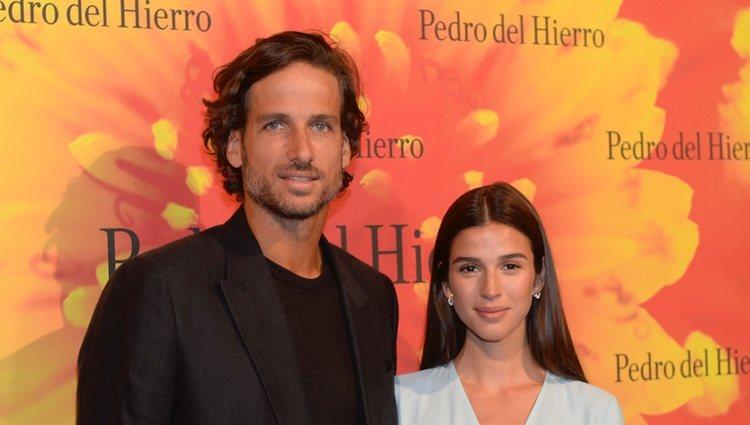Feliciano López y Sandra Gago en la MBFWMadrid julio 2019