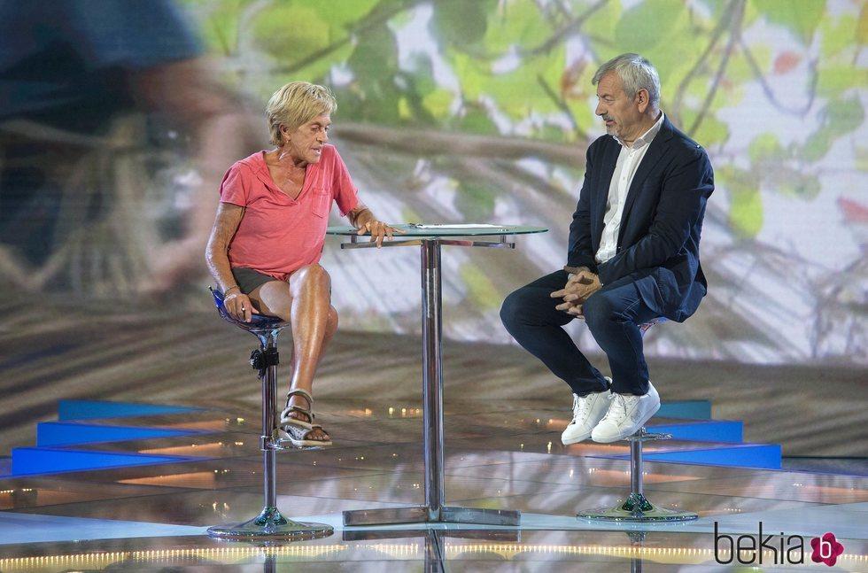 Chelo García Cortés durante su entrevista con Carlos Sobera