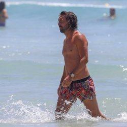 Pirlo durante sus vacaciones en familia en Ibiza