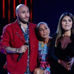 Isabel Pantoja con sus hijos Kiko Rivera y Chabelita Pantoja tras 'Supervivientes 2019'