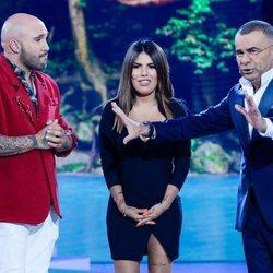 Kiko Rivera y Chabelita Pantoja hablando con Jorge Javier Vázquez en 'SV 2019'