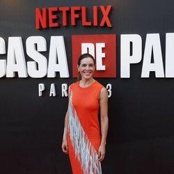 Raquel Sánchez Silva en la presentación de la tercera temporada de 'La Casa de Papel'